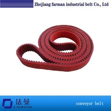 Industrial Timing Belt T5 T10 At5 At10 Custom Made Timing Belt Red Rubber Coated Pu Timing Belt