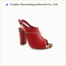 Cheap wholesale women summer wedge ledther sandals