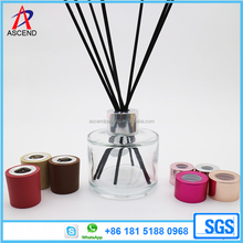 clear empty 120ml round reed diffuser glass bottle with perfume stick