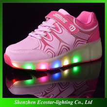LED 2016 children roller shoes kids sneakers Wheel girls boys Adult automatic skating flash shoes shinny Shoes