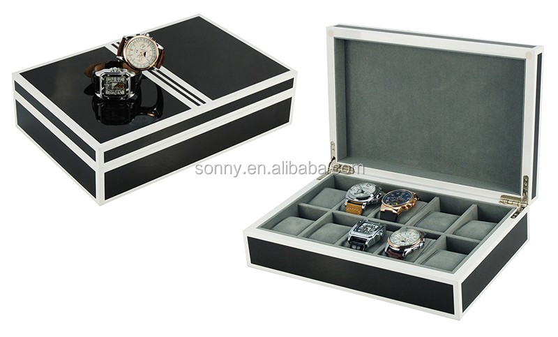 Hot Spot Supply Top Quality 6 Slots Cherry Wooden Watch Box