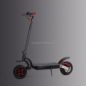 2x700W big power electric foldable standing scooter with dual disc braking for racing/ transportation/ outdoor sports