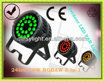 RGBAW 5-IN-1 High Brightness 10w*24pcs Outdoor LED PAR Light