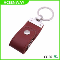 Lanyard custom leather usb 3.0 flash drive 16GB
