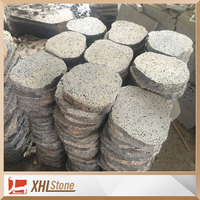Irregular Black Basalt Lava Paving Stone For Sale