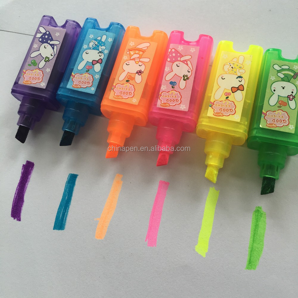 Small fast selling items colorful kawaii marker pen sets for kids
