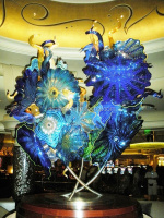 Modern Murano Sculpture Glass Flowers for Decoration