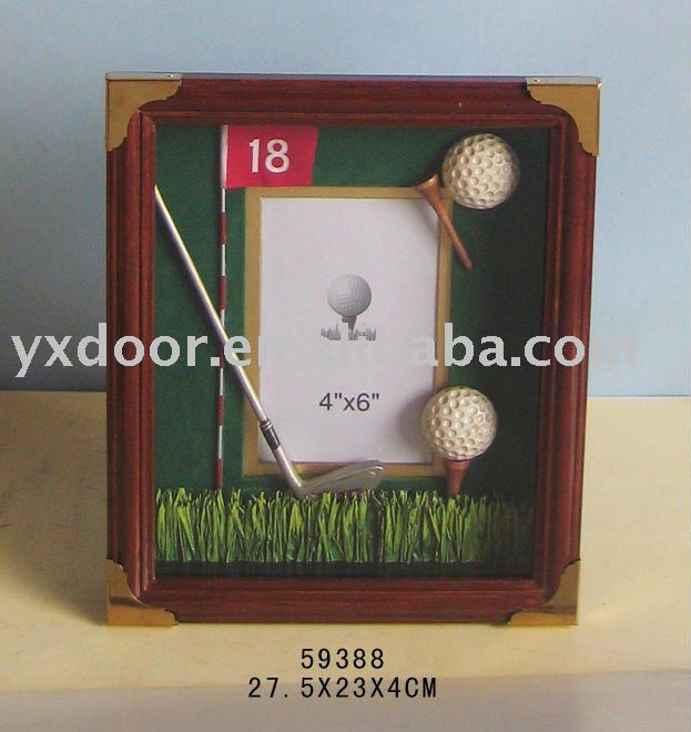 wooden photo frame ,golf style (59388) wooden frame,wood photo frame