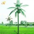 Decorative metal palm trees with light for park decoration