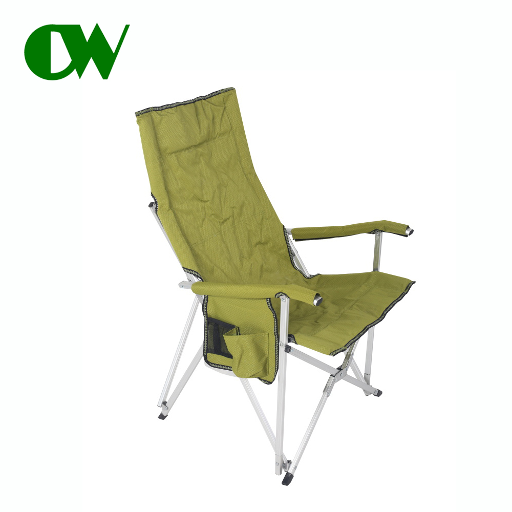 China factory a padded adjustable armrest rest metal leisure outdoor folding aluminium chair