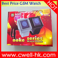 China low cost quad band GSM touch screen mobile watch phone price list