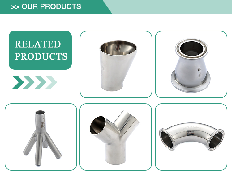 Low price stainless steel durable round shape eccentric hygienic pipe fitting