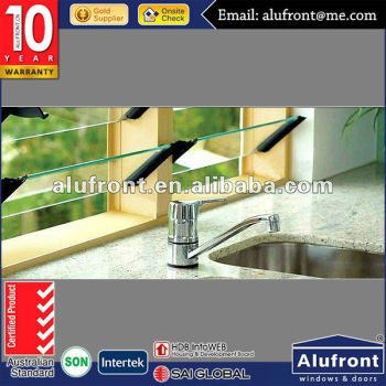 Aluminum Glass Windows/Aluminum Frame Manual Glass Louver Window