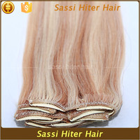 Wholesale top quality clip-in yaki human hair extensions