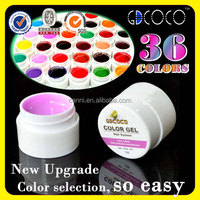 #3688U-J Hot Sale GDCOCO Factory Wholesale Solid Color Soak off UV Gel System, Nail Art UV Gel Polish Kit,CANNI Factory Supply