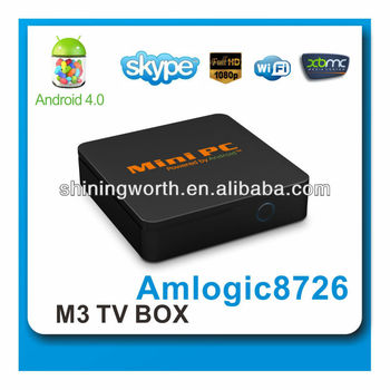 shiningstar dual core tv box andriod smart tv box Android 4.0 tv box wifi support