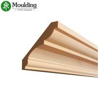 China customized decorative wood ceiling cornice moulding