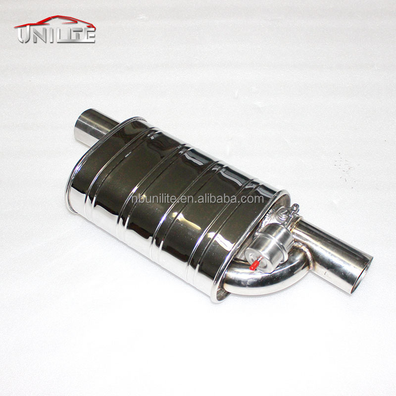 2.5'' Exhaust Muffler Valve Cut Out System with Stinless Muffler+Remote Control
