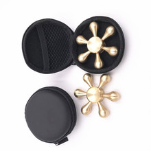The new 2017 brass aluminum fidget spinner toy with high speed hot products