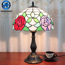 African style zinc alloy material lamp base tiffany table lamp made in China