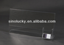 ACRYLC BUSINESS CARD HOLD WITH SIGN / ACRYLIC BROCHURE HOLDER WITH SIGN