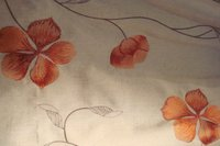 Faux Silk Applique Embroidery Curtain Fabric