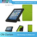 Hot Sale Factory Price Genuine Leather Phone Case Tablet Pc Case for fire 7 origami case