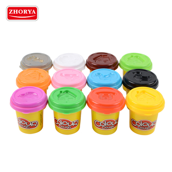 zhroya kids diy intelligent toy 12 colors play dough