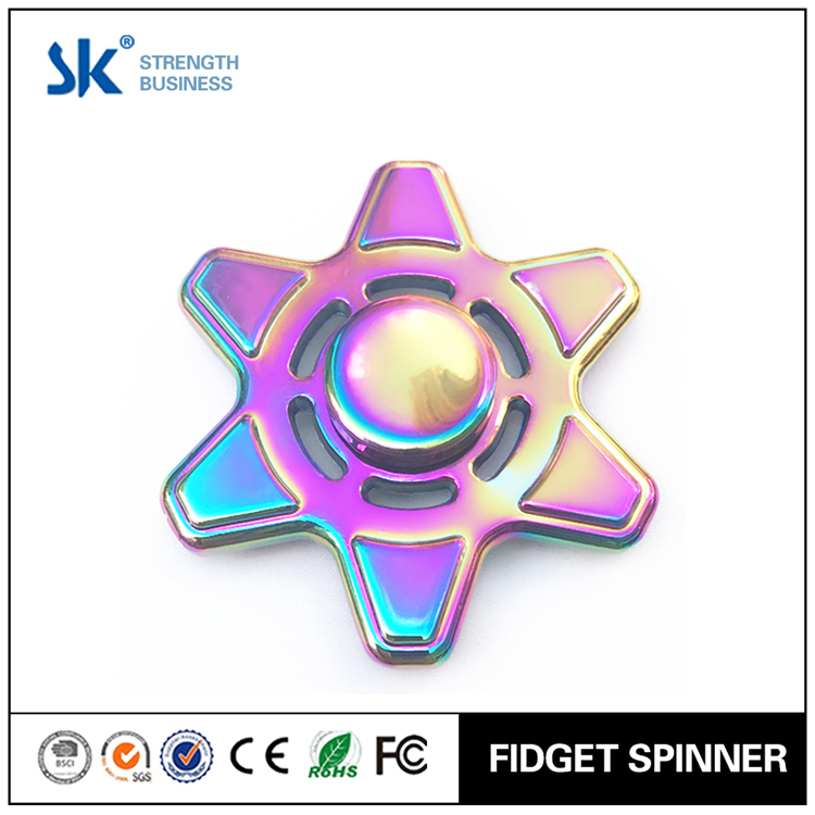 Sanke 2017 edc fidget spinner rainbow metal with R188 bearing stress reduce hand spinner