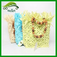 Promotion wholesale cute kids straw beach bag