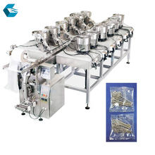 Automatic bolt button hardware parts counting packing machine