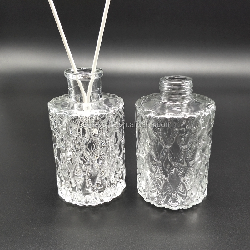 100ml 150ml aromatic reed diffuser glass bottle with glass ball cork