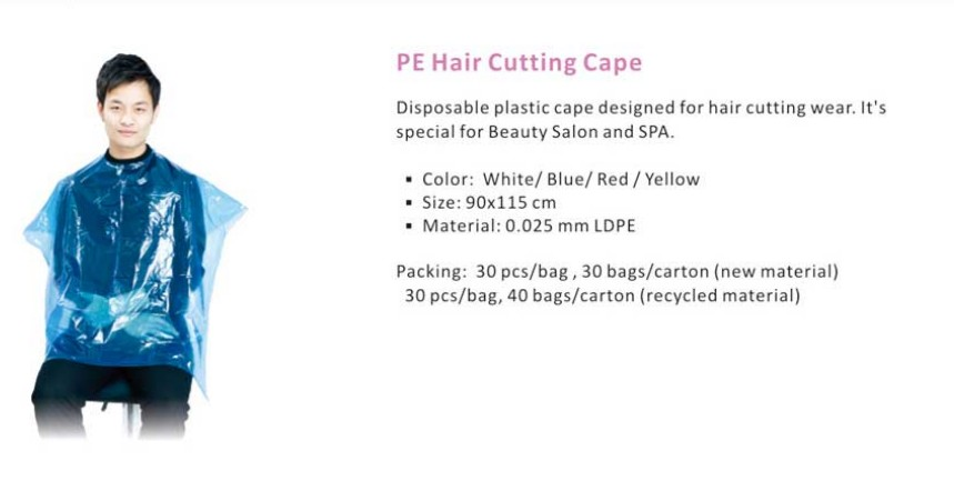 wholesale popular barber shop use hair cutting cape use in SPA with competitive price