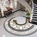 hot sale gorgeous home entrance flooring round waterjet medallion marble floor design pattern