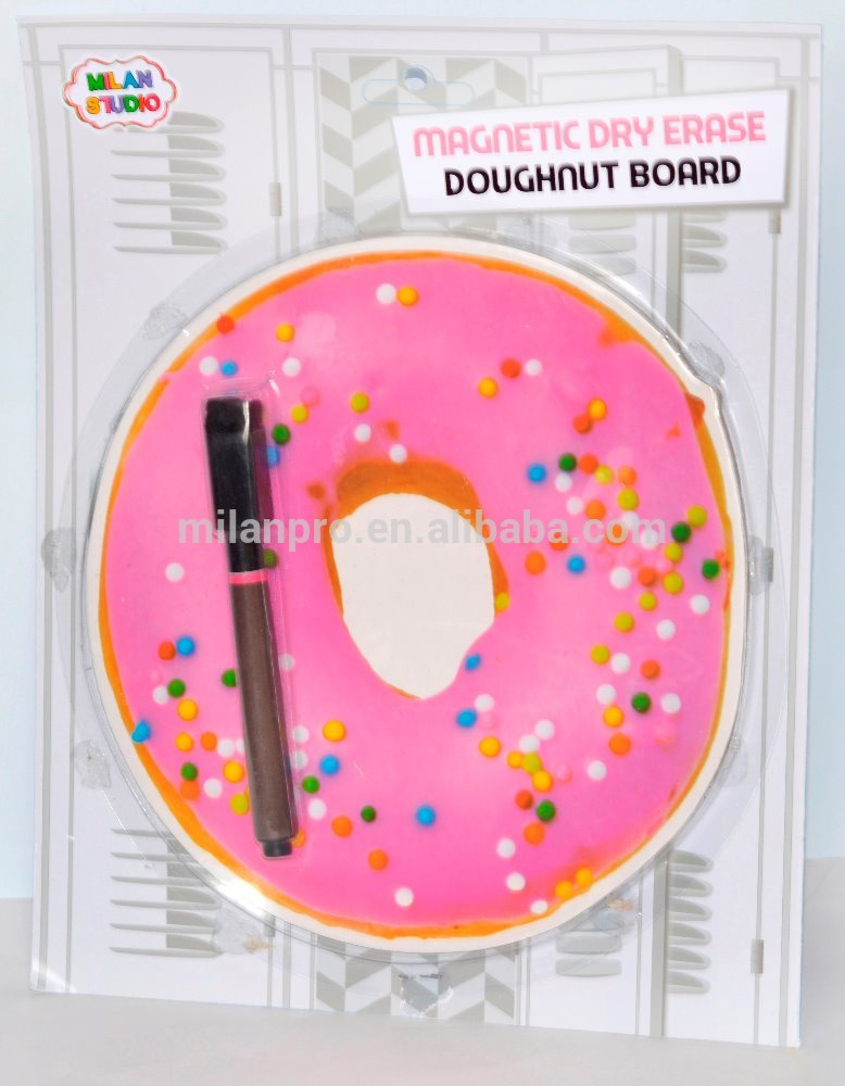 doughnut magnetic white board with pen/dry eraser board/notice board/writing board/lap board/advertising light chalk board