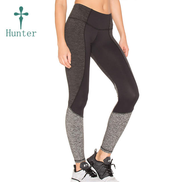 Popular Dry Fit Yoga Pants For Women Lycra Patterned Panel Footless Tights