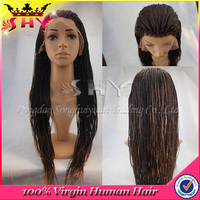 glueless brazilian human hair kinky twist braided lace wig