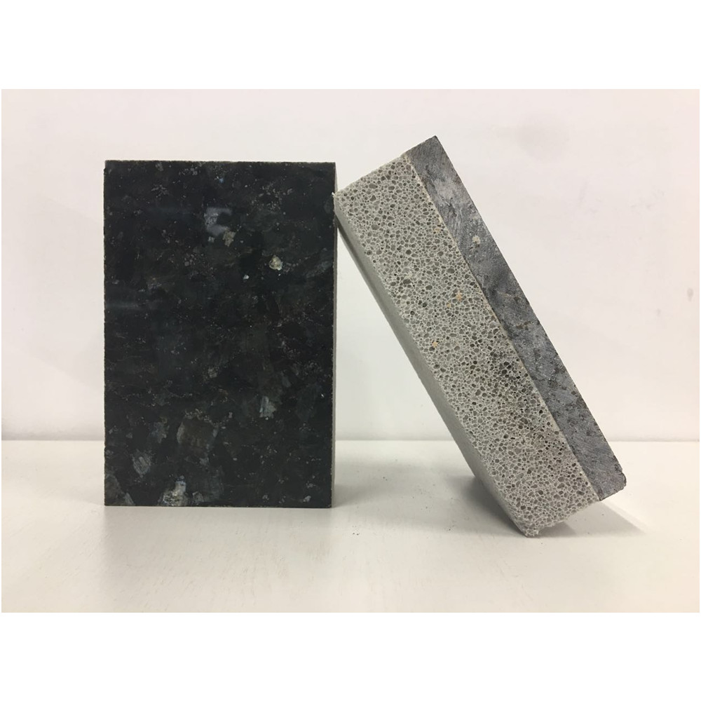 Artificial granite decorative integrate PUR insulation outside wall cladding panel