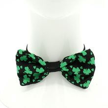 OEM Custom ST.Patrick's Day Design High Quality Wholesale Plaid Ribbon Bow Tie