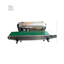 most efficient continuous band plastic bag film heat sealer with solid ink print