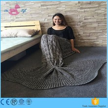 Popular comfortable cotton fabric mermaid blanket tail