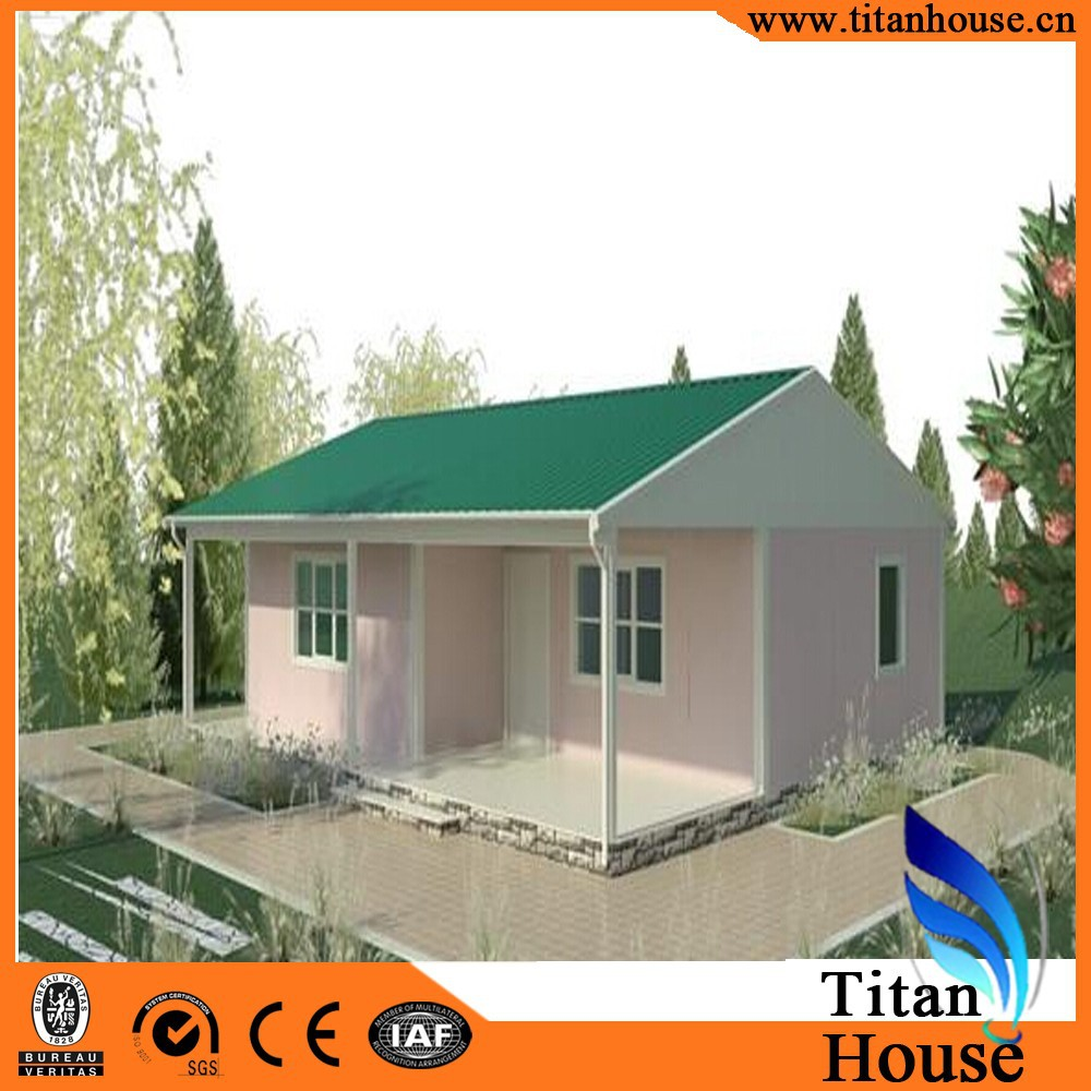 China Manufacturer Modern Design Bungalow Steel Frame Small Kit Homes,Home kits
