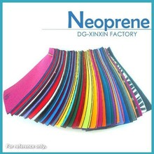 color swatches of neoprene in stock