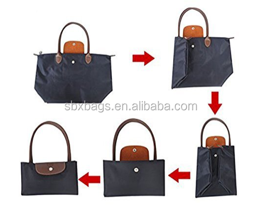 Factory wholesale custom foldable women tote handbag