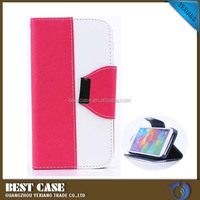 Strong magnetic smart phone leather case for samsung galaxy a310 stand cover