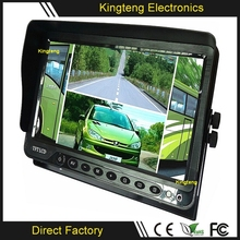 KT-9102 9 Inch Sunvisor Car TFT LCD HD Video Quad DVR Car Monitor Bus/Coach/Trailer Large Screen Split Display Monitor 24V