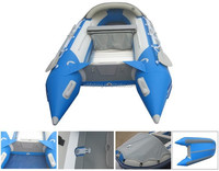 Hot Sale CE 0.9mmpvc inflatable boat with Aluminium floor