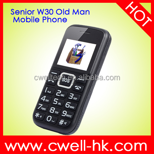 1.8 Inch Single SIM Card Senior W30 Big Battery Long Standby Low Price Old Man China Mobile Phone