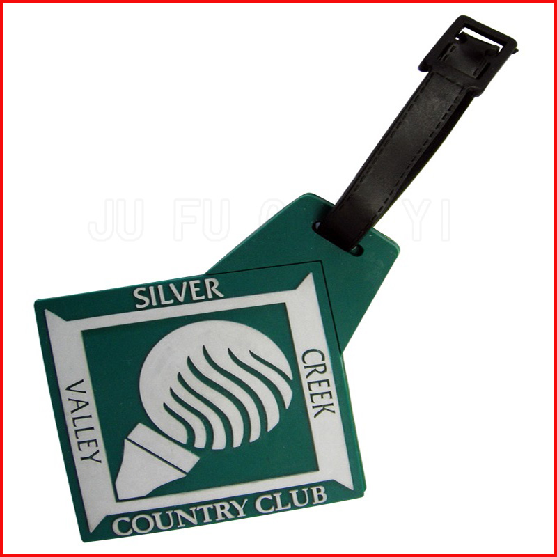 eco-friendly plastic handbag tag and soft pvc luggage tag