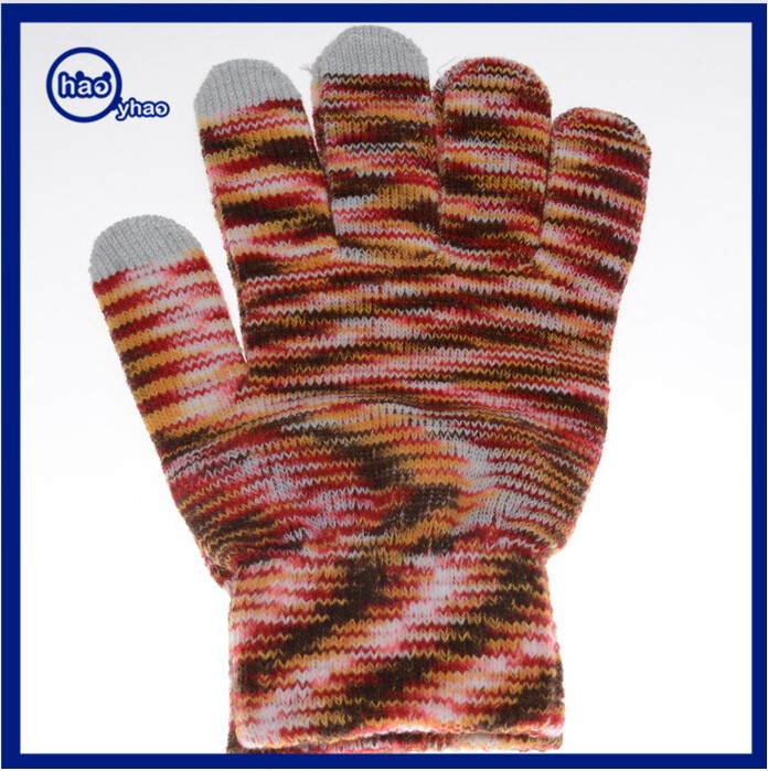 Yhao Promotional Customized Knitted Smart Phone Gloves Camouflage Gloves